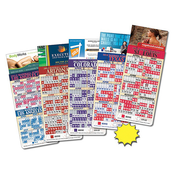 Personalized Magna-Card Business Card Magnet - Baseball Schedules
