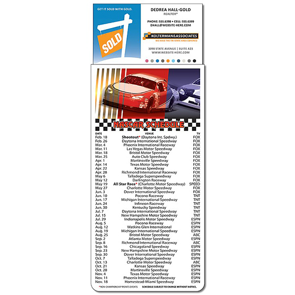 Personalized Magna-Card Business Card Magnet - NASCAR Schedules