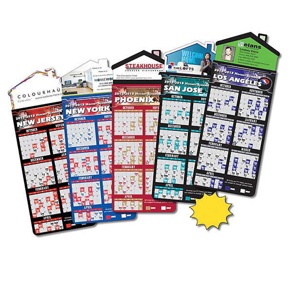 Custom Magna-Card House Shape Magnet - Hockey Schedules