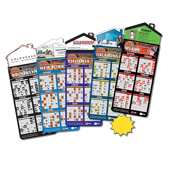 Printed Magna-Card House Shape Magnet - Basketball Schedules