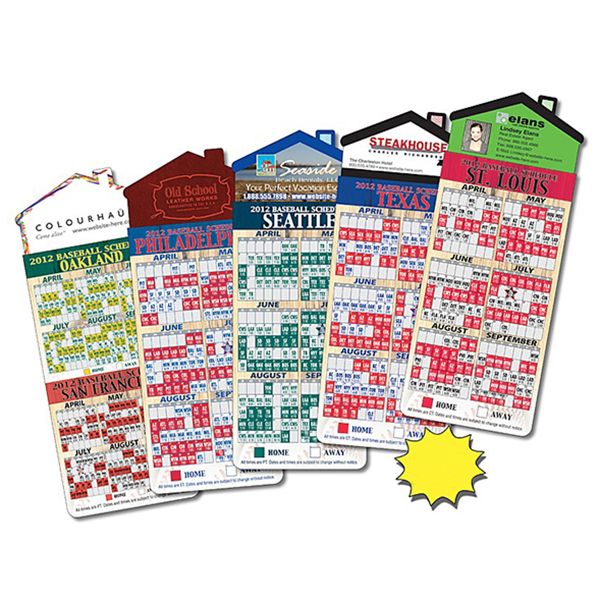 Promotional Magna-Card House Shape Magnet - Baseball Schedules