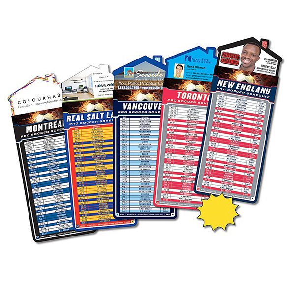 Imprinted Magna-Card House Shape Magnet - Soccer Schedules
