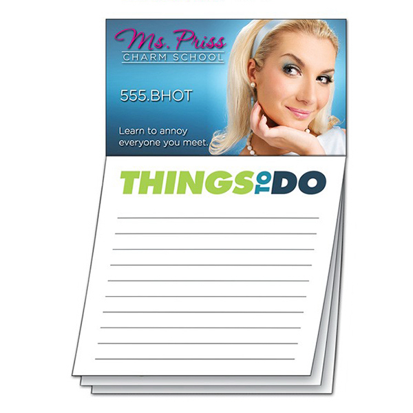 Printed Magna-Note Business Card Magnet - Stock Things To Do Stik-ON