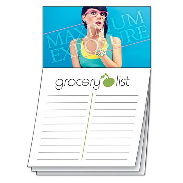 Personalized Magna-Note Business Card Magnet - Stock Grocery List Stik-ON