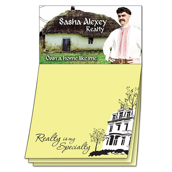 Printed Magna-Note Business Card Magnet - Stock Realty Stik-ON (R)