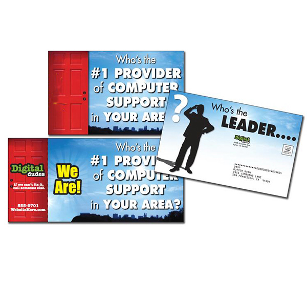 "Promotional Open-Up Postcard (5.25"" x 8.5"" folded) UV Coated (1S)"