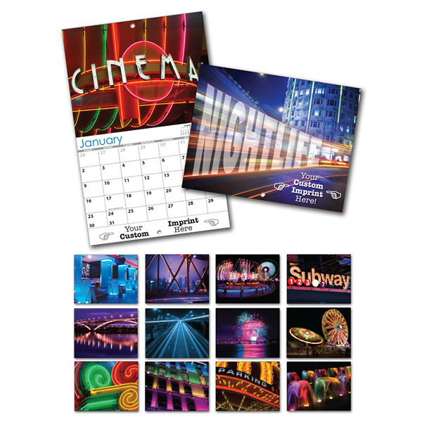 Customized 13 Month Custom Appointment Wall Calendar - NIGHTLIFE