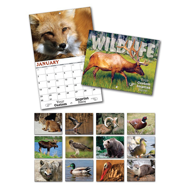 Custom 13 Month Custom Appointment Wall Calendar - WILDLIFE