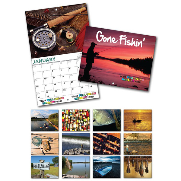 Custom 13 Month Custom Appointment Wall Calendar - FISHING