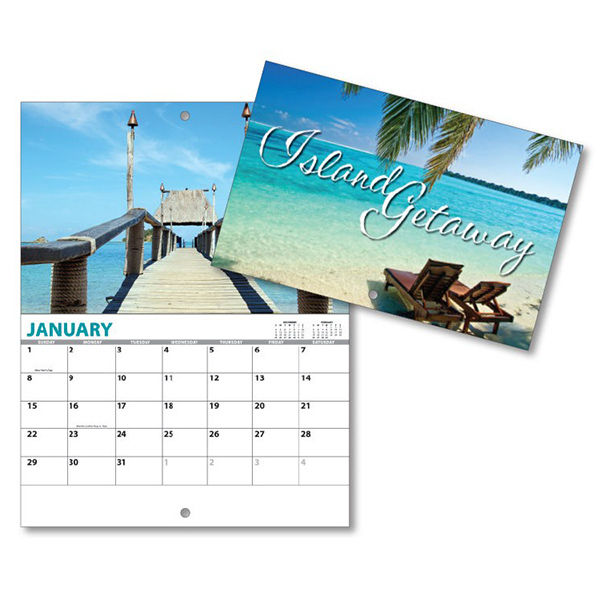 Custom 13 Month Mini Custom Photo Appointment Wall Calendar- ISLAND