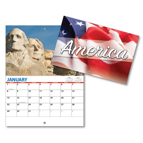 Custom 13 Month Mini Custom Photo Appt .Wall Calendar-PATRIOTIC