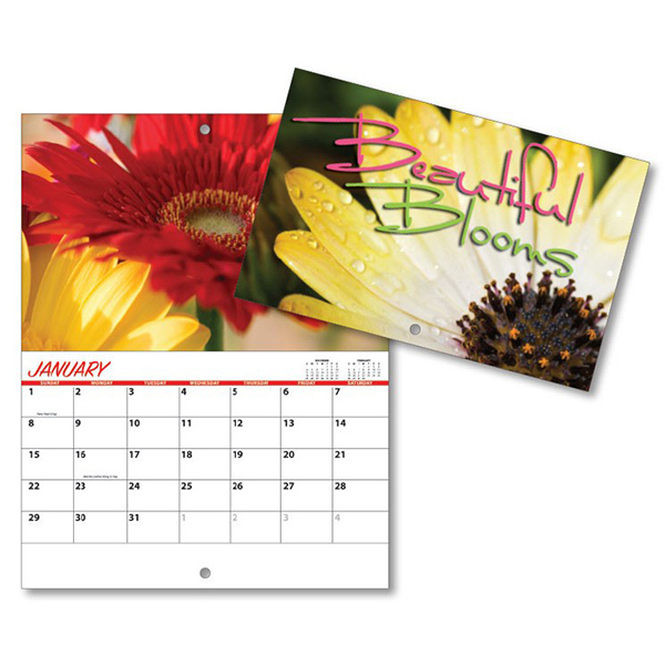 Promotional 13 Month Mini Custom Photo Appt .Wall Calendar - BLOOMS