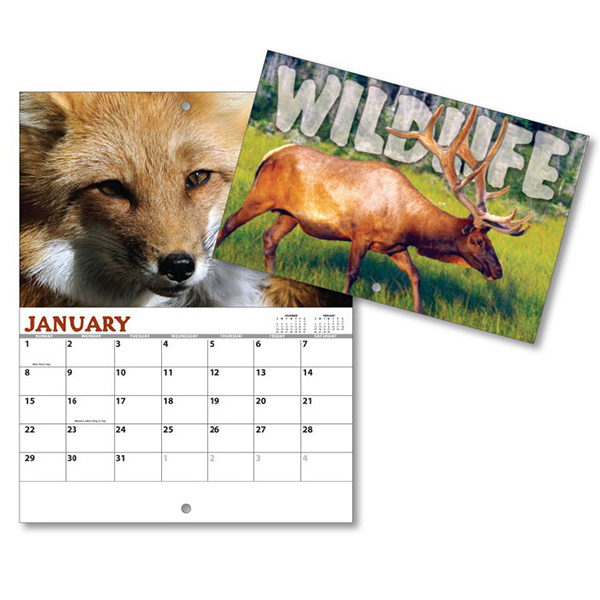 Personalized 13 Month Mini Custom Photo Appt. Wall Calendar-WILDLIFE