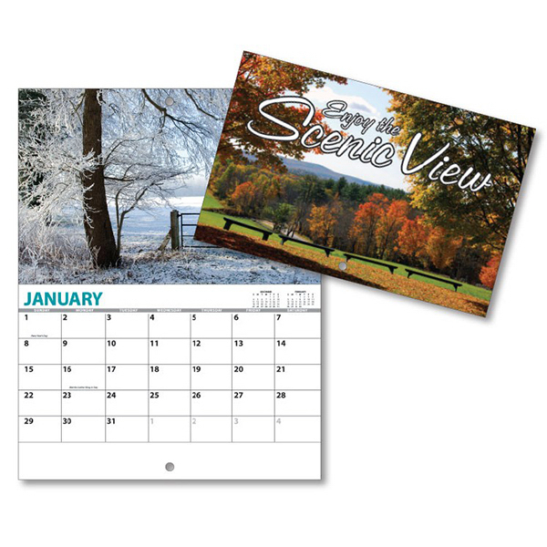 Printed 13 Month Mini Custom Photo Appointment Wall Calendar - VIEW