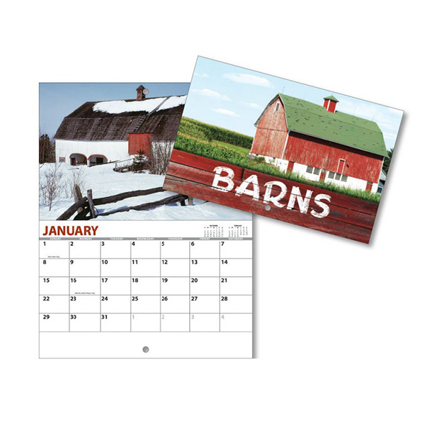 Personalized 13 Month Mini Custom Photo Appointment Wall Calendar - BARNS