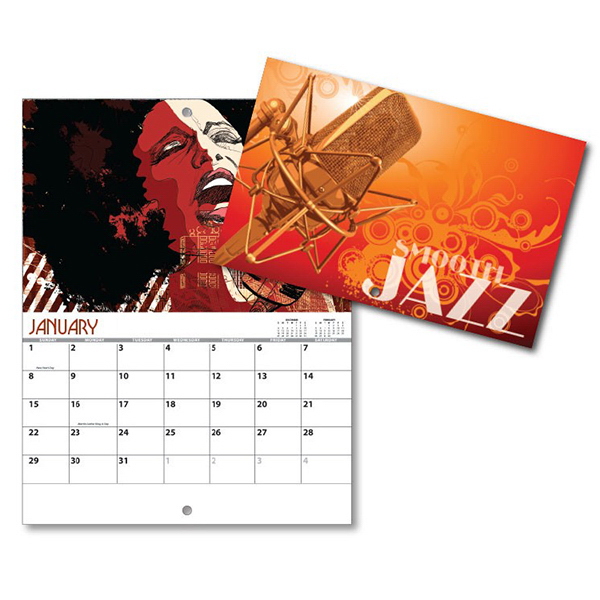 Promotional 13 Month Mini Custom Photo Appt. Wall Calendar - SMOOTH JAZZ
