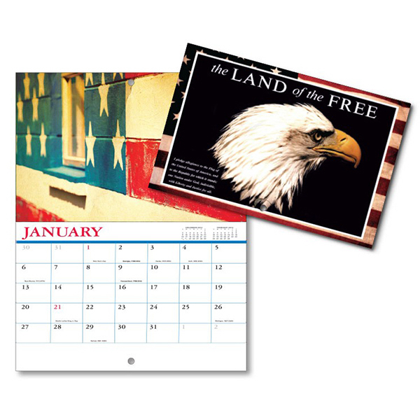 Custom 13 Month Mini Custom Photo Appt .Wall Calendar-LAND OF FREE