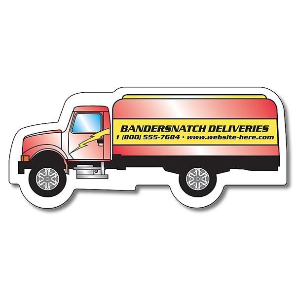 "Customized Magnet-Oil Tanker Truck Shape (3.72""x1.625"") - Outdoor Safe"