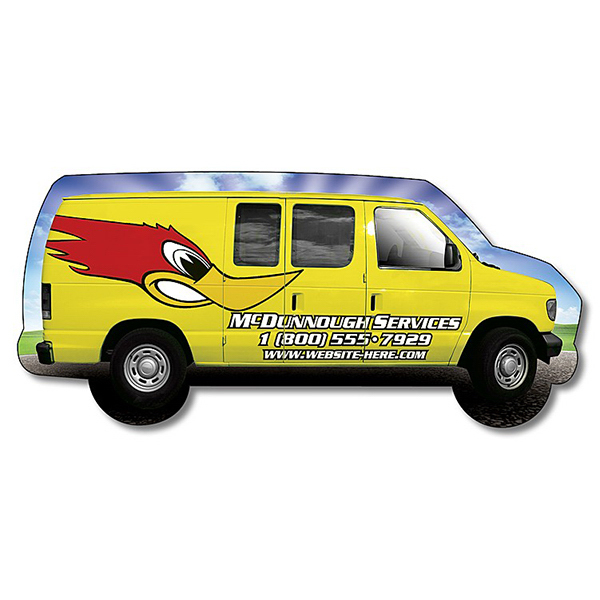 Personalized Magnet - Van Shape (4.125 x 1.875 - Right Facing) - 30 Mil