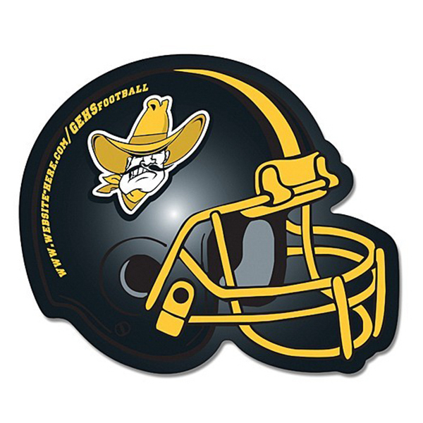 Customized Magnet - Football Helmet Shape (4.25 x 3.5) Left Facing