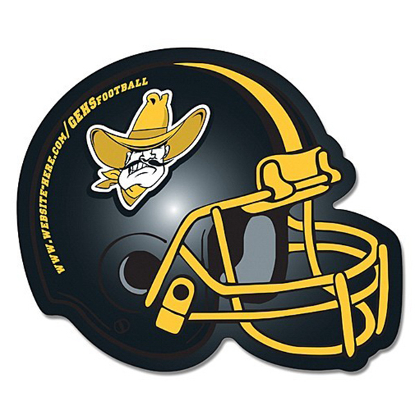 Imprinted Magnet - Football Helmet Shape (4.25 x 3.5) Left Facing