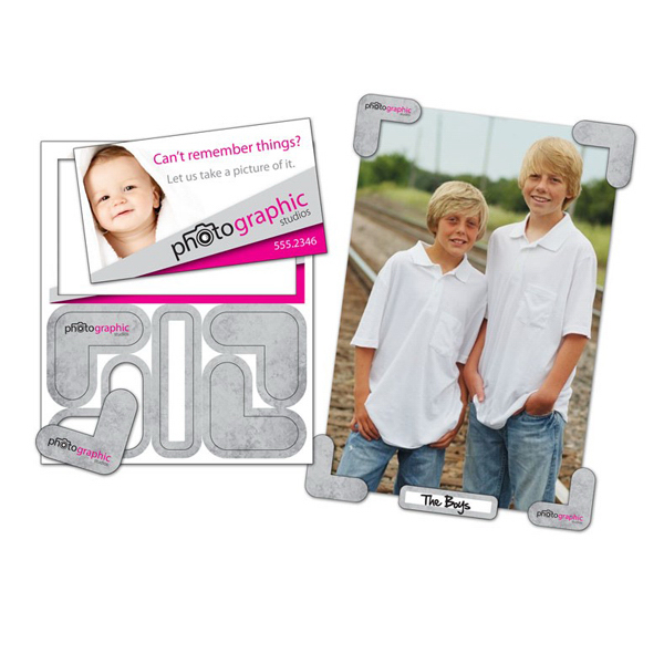"Printed Picture Holder Magnet - 4"" x 4.75"" - 20 mil"