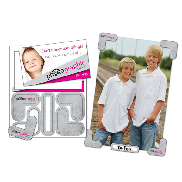 "Customized Picture Holder Magnet - 4"" x 4.75"" - 25 mil"