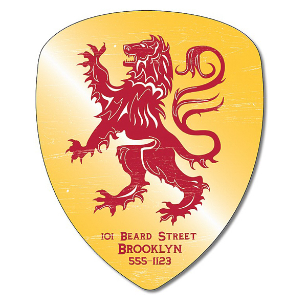 "Customized Magnet - Badge / Crest / Shield Shape 4"" x 4.9"" - 20 mil"