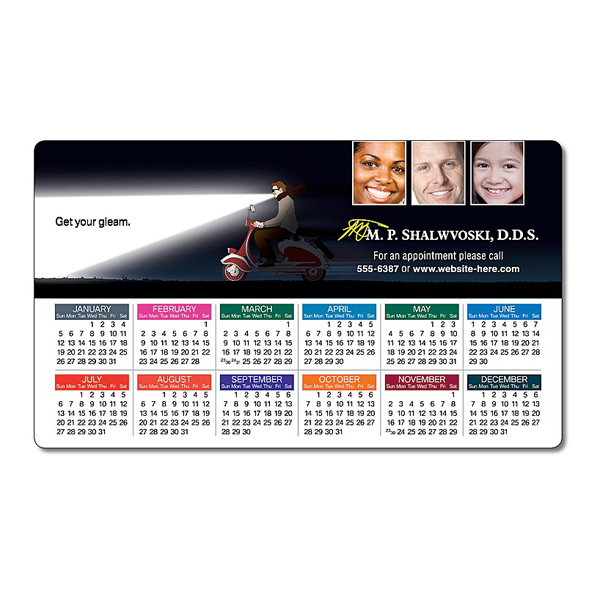 "Promotional Health Calendar Magnet - 3.5"" x 6"" Round Corners - 25 mil"