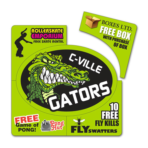 Printed Corner Coupon Oval Magnet - 6 x 6 Round Corners - 30 mil