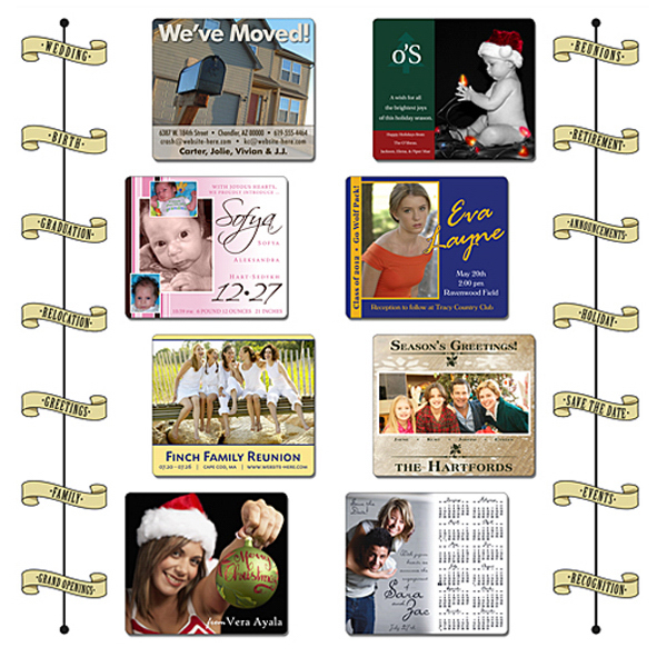 "Custom Announcement Calendar Magnet- 3.5"" x 4"" Round Corners-25 mil"