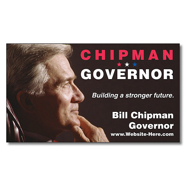 "Promotional Political Business Card Magnet - 3.5"" x 2"" (Square Corners)"