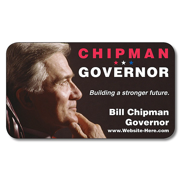 "Imprinted Political Business Card Magnet - 3.5"" x 2"" (Round Corners)"