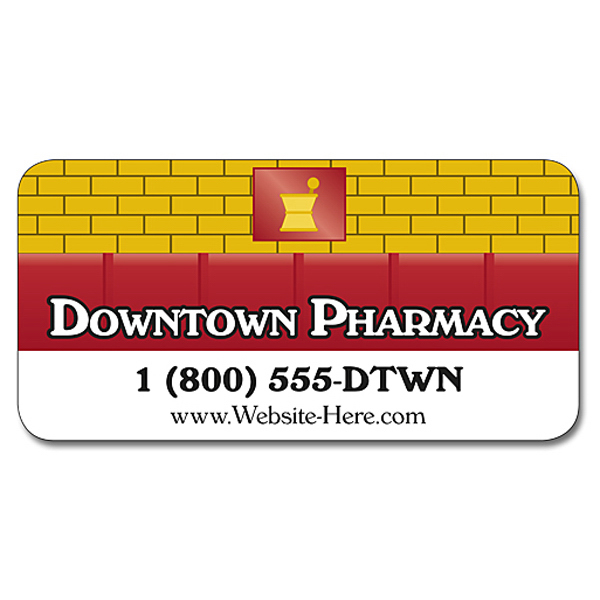 Customized Pharmacy Magnetic Car/Truck/Auto/Vehicle Sign - 24x12