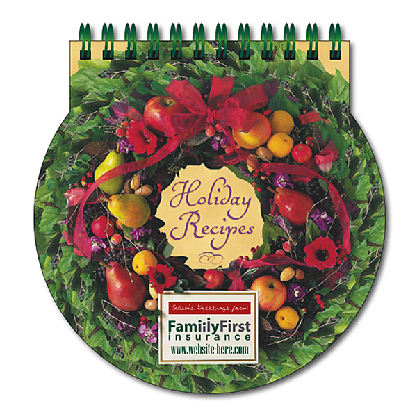 "Printed Cookbook - Holiday Recipes - 5.375"" x 5.125"""