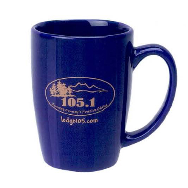 Imprinted 14 oz. Alumni Mug - Cobalt Blue