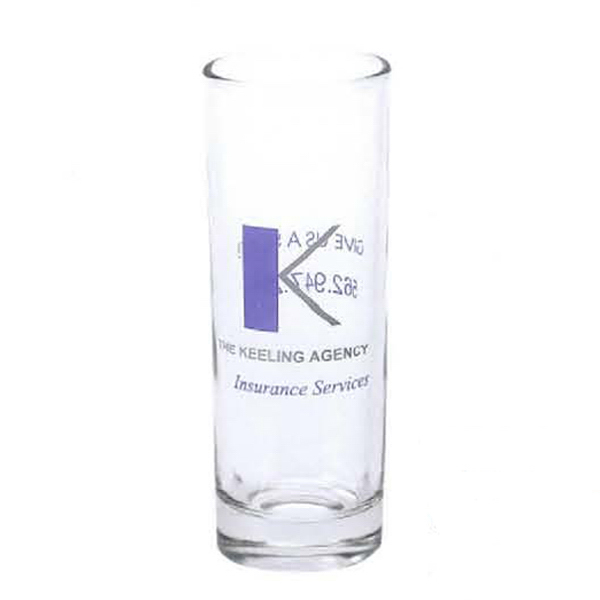 Custom 2 1/4 oz. Clear Shooter Glass