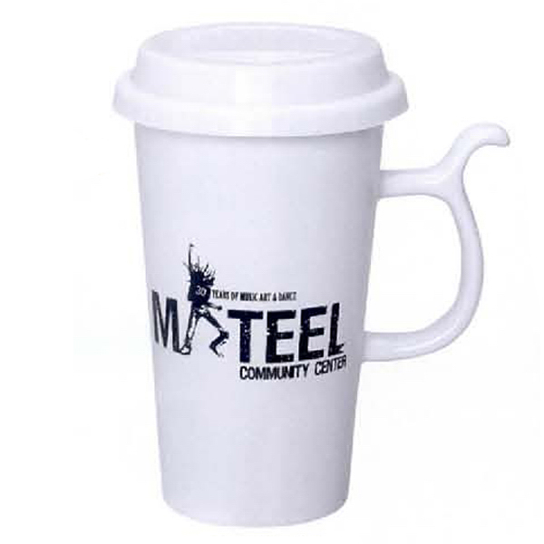 Printed 13 oz. Go Green Mug (White)