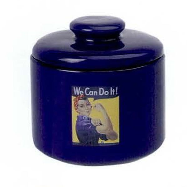 Promotional 12 oz. Ceramic Jar with Lid