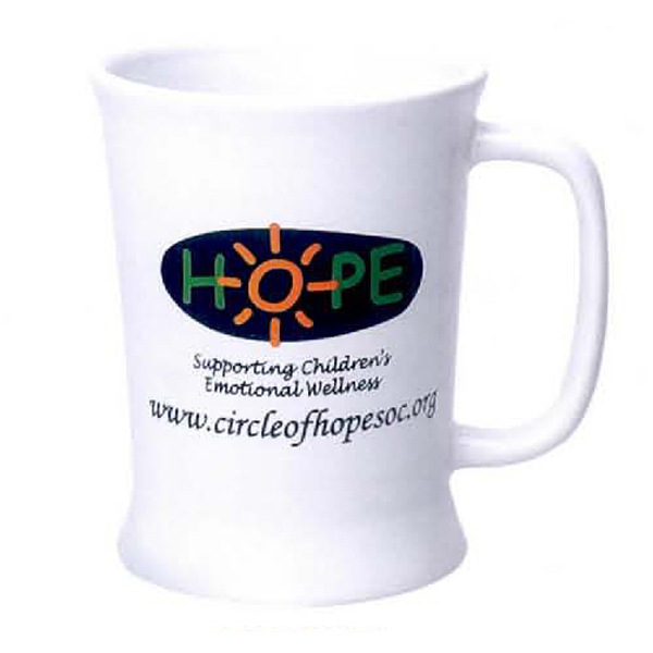 Imprinted 11 oz. Trumpet Mug (White)