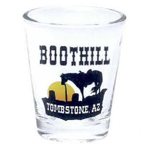 Personalized 1 1/2 oz. Clear Shot Glass