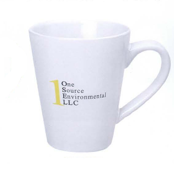 Imprinted 14 oz. Cafe Mug (White)