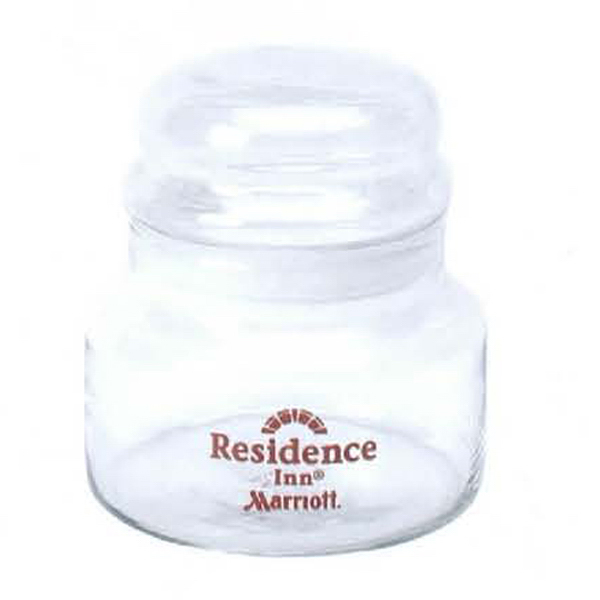 Promotional 15 oz. Glass Storage Jar with Lid