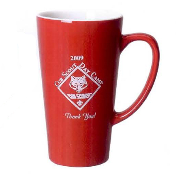Customized 16 oz. Cafe Mug (Two Tone)