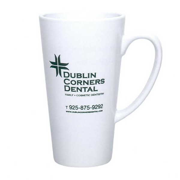 Personalized 16 oz. Cafe Mug (White)