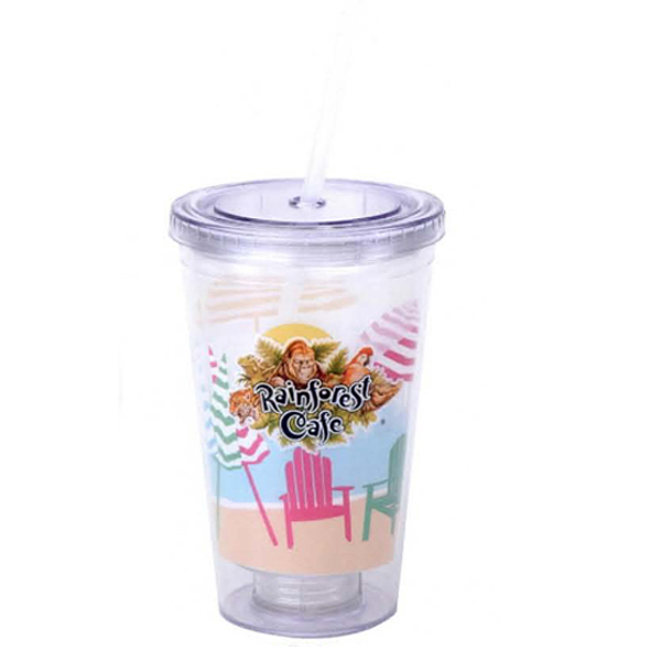 Custom 16 oz. Plastic Cup with PVC Insert