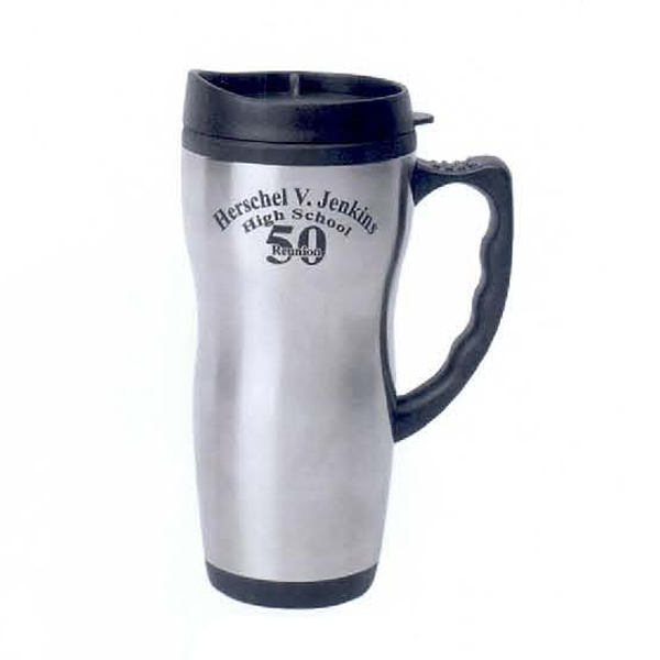 Custom 16 oz. Travel Mug with Plastic Liner