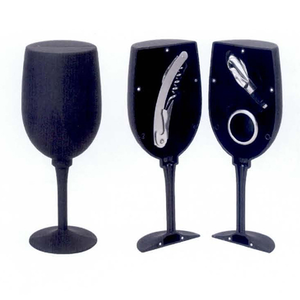 Customized 3 Piece Wine Opener Set (Wine Glass)