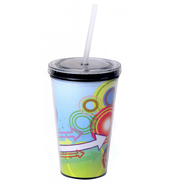 Promotional 16 oz. Double Wall Cup with Paper Insert