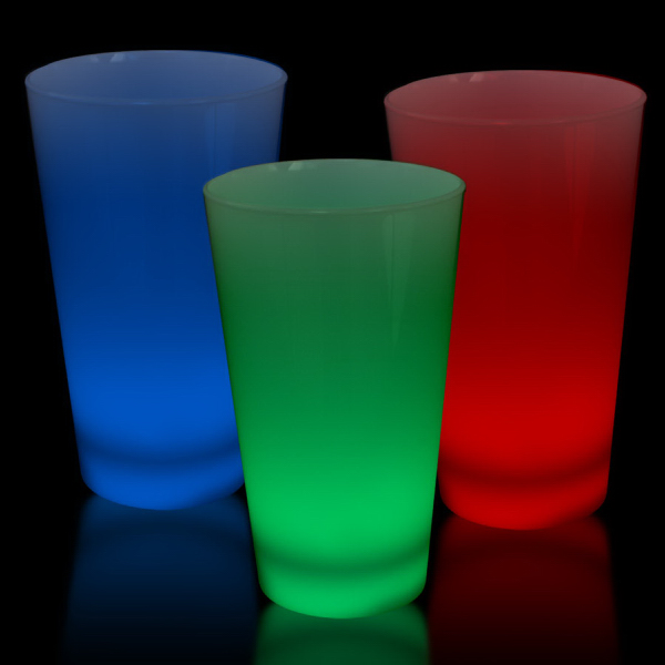 Personalized LED Glow Light Up Neon Look 16 oz Pint Glass